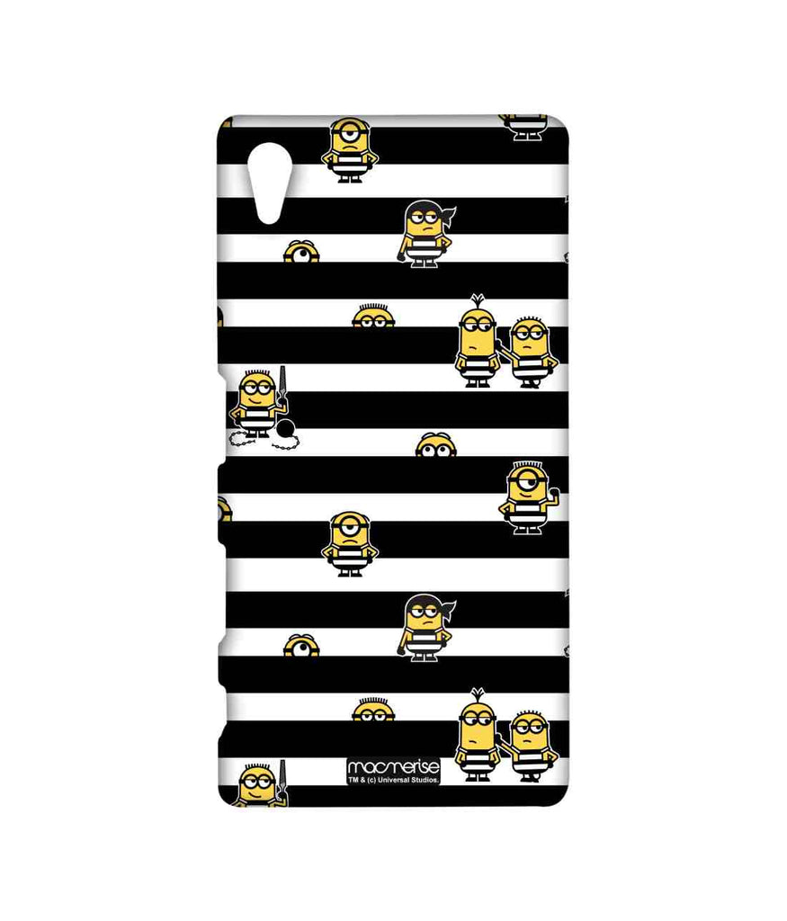 Despicable Me Minions Pattern Black Stripes Minions Sublime Case for Sony Xperia Z5