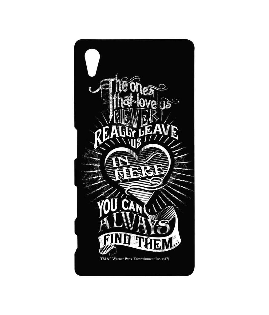 Harry Potter Find Loved Ones Black Sublime Case for Sony Xperia Z5