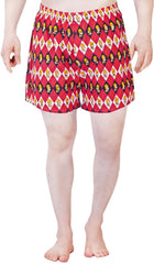 Simpsons Homer Face in Diamond Red Boxer for Men