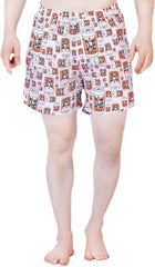 Simpsons Duff Beer Cans White Boxer for Men