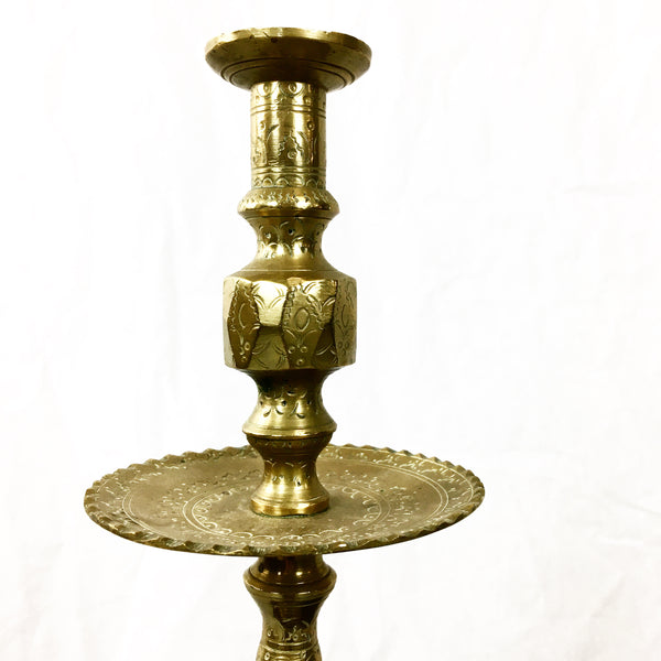 French Vintage Brass Candlesticks