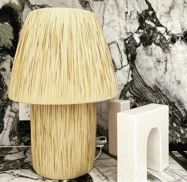 Handmade Raffia Table Lamps