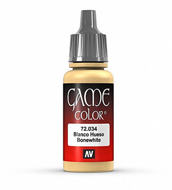 Vallejo Game Color Bonewhite Paint, 17ml