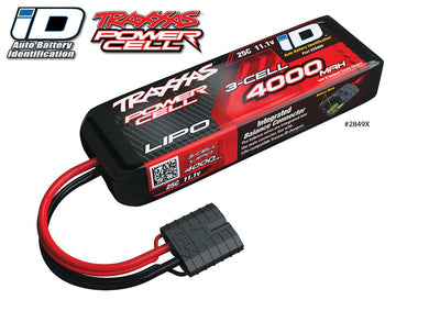 Traxxas iD Power Cell LiPo 11.1V 3-cell 4000mAh 25C Battery TRA2849X for RUSTLER