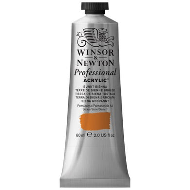 Winsor & Newton Professional Acrylic Color Paint, 60ml Tube, Burnt Sienna