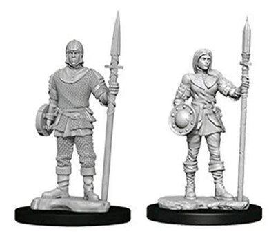WizKids Deep Cuts Unpainted Miniatures: Wave 10: Guards 73870