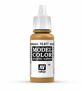 Vallejo Model Color Gold Brown Paint, 17ml