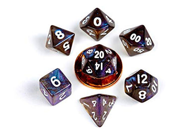 MDG Stardust Galaxy 10mm Mini Poly Dice Set
