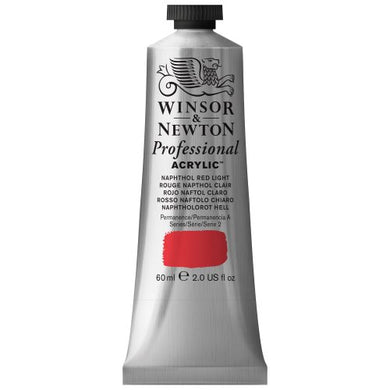 Winsor & Newton Professional Acrylic Color Paint, 60ml Tube, Naphthol Red Light