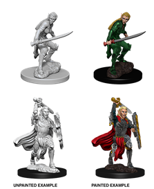 Dungeons & Dragons Nolzur's Marvelous Miniatures: Female Elf Fighter WZK73385