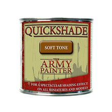 Load image into Gallery viewer, The Army Painter Quickshade Miniature Varnish for Miniature Painting, Soft Tone Model Paint Quickshade Varnish, Pot/Can, 250 ml, Approximately 8.45 oz