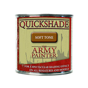 The Army Painter Quickshade Miniature Varnish for Miniature Painting, Soft Tone Model Paint Quickshade Varnish, Pot/Can, 250 ml, Approximately 8.45 oz