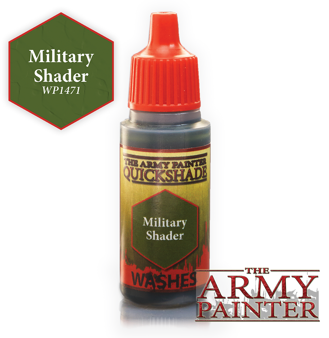 The Army Painter Warpaint Washes 18ml Military Shader