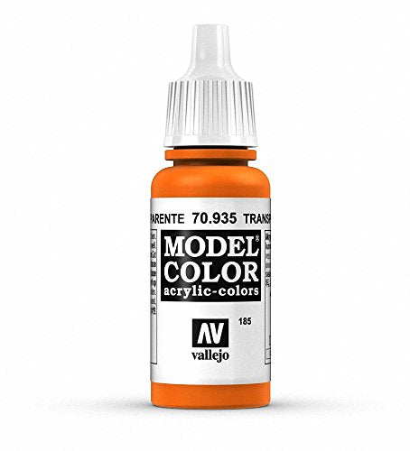 Vallejo Model Color Transparent Orange Paint, 17ml