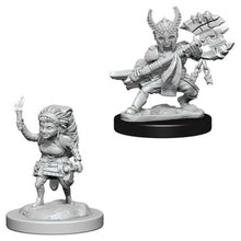 Load image into Gallery viewer, D&D Nolzur's Marvelous Miniatures Female Halfling Fighter WZK73387