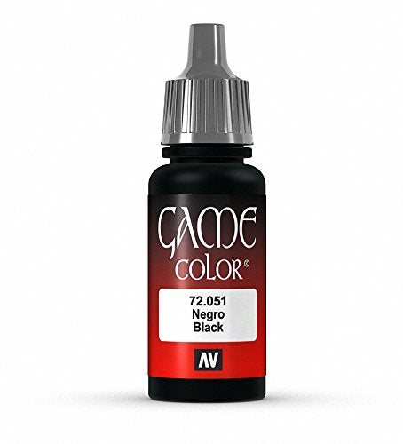 Vallejo Black Game Color paint, 17ml