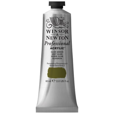Winsor & Newton Professional Acrylic Color Paint, 60ml Tube, Olive Green
