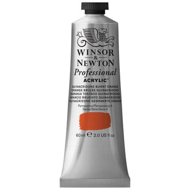 Winsor & Newton Professional Acrylic Color Paint, 60ml Tube, Quinacridone Burnt Orange