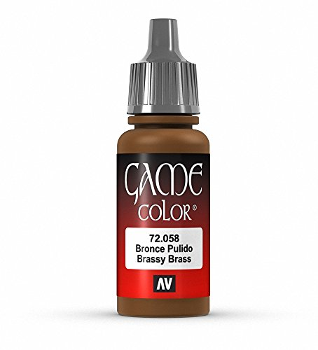 Vallejo Game Color Brassy Brass Paint, 17ml
