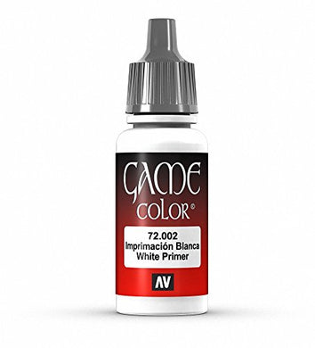 Vallejo Game Color Arctic White Primer Paint, 17ml