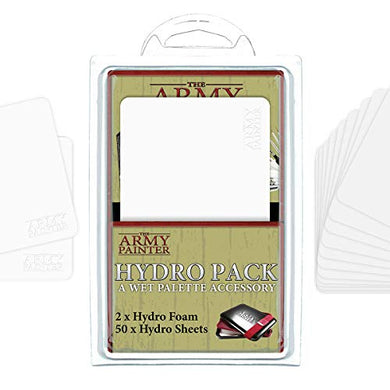 The Army Painter Hydro Pack for Wet Palette, 50 Palette Sheets and 2 Sponges Refill Pack for Wet Palette