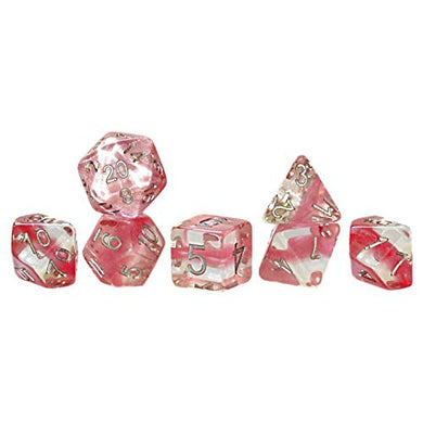 Gate Keeper Games GKGN0102 Cube - Neutron Rose Quarts Dice - Set of 7