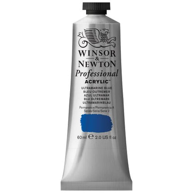 Winsor & Newton Professional Acrylic Color Paint, 60ml Tube, Ultramarine Blue