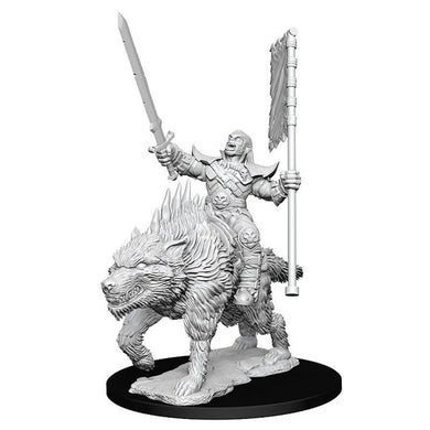 Pathfinder Deep Cuts Orc on Dire Wolf Miniatures Dungeons Dragons WZK73547