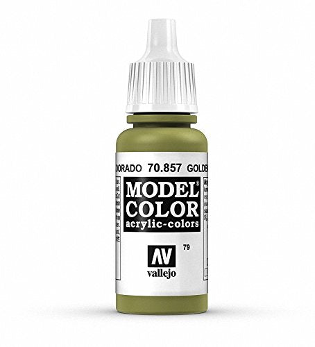 Vallejo Model Color Golden Olive Paint, 17ml