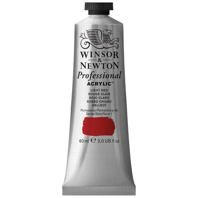 Winsor & Newton Professional Acrylic Color Paint, 60ml Tube, Light Red