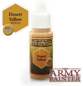 "The Army Painter Warpaints 18ml Desert Yellow ""Brown Variant"" WP1121"
