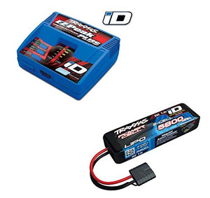 Traxxas 2992 EZ-Peak Plus Completer Pack LiPo Charger & 5800mAh 7.4V iD Battery #2992
