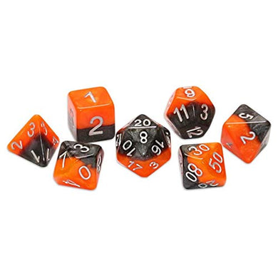 Halfsies Dice: All Hallow's Eve Orange Black