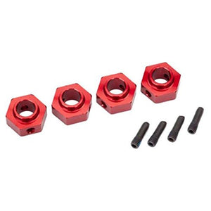 Traxxas TRX-4 Aluminum Anodized 12mm Wheel Hub Hex w/Screw pins (Red)