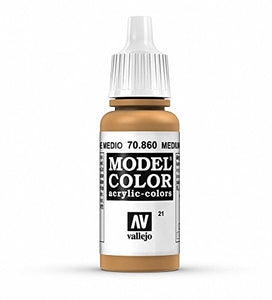 Vallejo Model Color Medium Fleshtone Paint, 17ml
