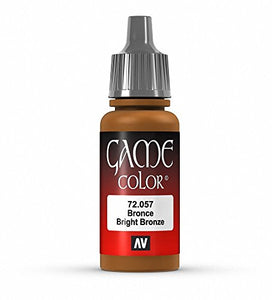 Vallejo Game Color Bright Bronze Paint, 17ml