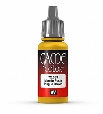 Vallejo Game Color Plague Brown Paint, 17ml
