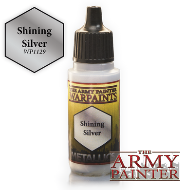 The Army Painter Metallics Warpaints 18ml Shining Silver Metallic Variant WP1129