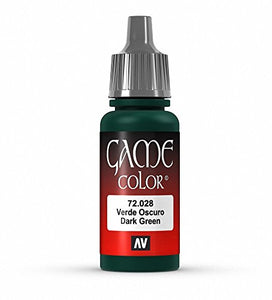 Vallejo Game Color Dark Green Paint, 17ml