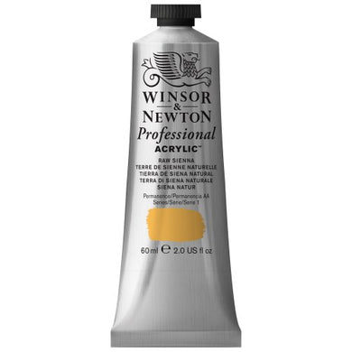 Winsor & Newton Professional Acrylic Color Paint, 60ml Tube, Raw Sienna