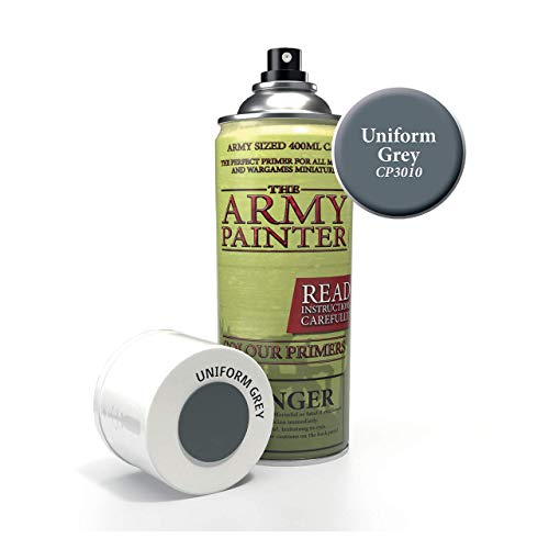 The Army Painter Primer Uniform Grey 400ml Acrylic Spray for Miniature Painting