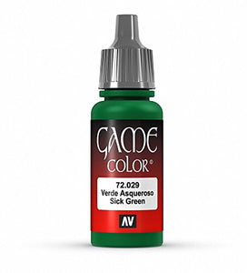 Vallejo Game Color Sick Green Paint, 17ml