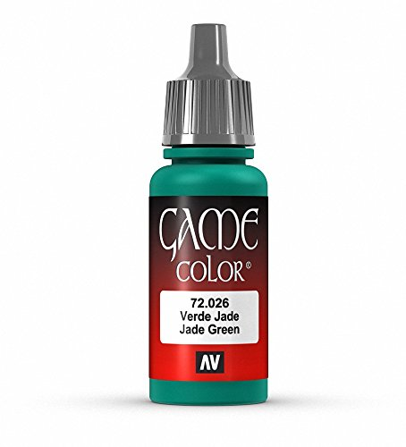 Vallejo Game Color Jade Green Paint, 17ml