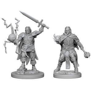 Pathfinder Deep Cuts Unpainted Miniatures: Human Male Cleric WZK72600