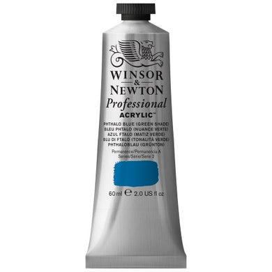 Winsor & Newton Professional Acrylic Color Paint, 60ml Tube, Phthalo Blue Green Shade