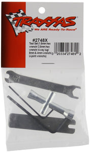 Traxxas 2748x Tool Set (1.5mm &2.5mm allens/ 4-way lug, 8mm &4mm wrench & U-joint wrenches)