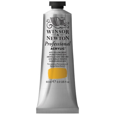 Winsor & Newton Professional Acrylic Color Paint, 60ml Tube, Azo Yellow Deep