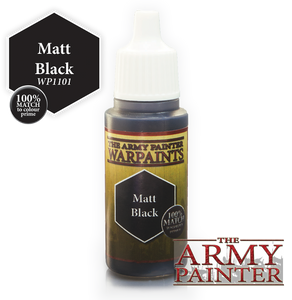"The Army Painter Warpaints 18ml Matt Black ""Black Variant"" WP1101"