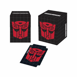 Ultra Pro Deck Box PRO 100+ Transformers Autobots Holds 100 Sleeved Cards