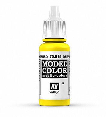 Vallejo Model Color Acrylic Paint, Deep Yellow 17ml